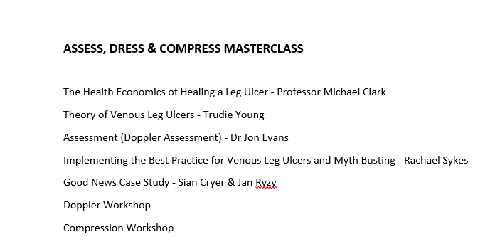 Assess, dress and compress masterclass