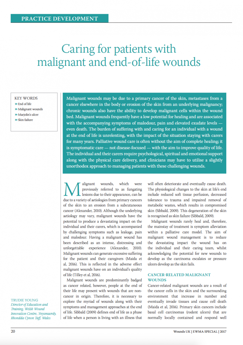 Trudie Young: Caring for malignant and end-of-lifE wounds