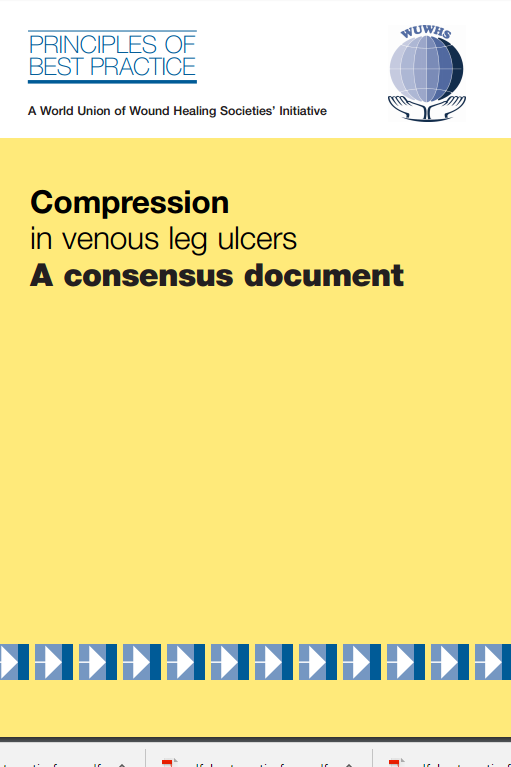 Compression in veneous leg ulcers